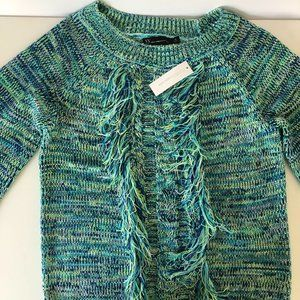 NEW YORK & COMPANY  green/blue pullover sweater